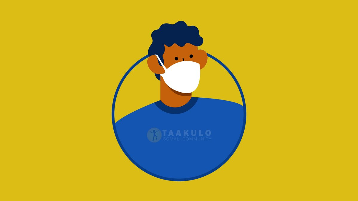 When you can't keep a safe distance from others, cover your mouth and nose with a mask.   Markaad ka fogaan kari weydo dadka kale, ku daboolo afkaaga iyo sankaaga af-daboolo  @PlanUK  #Planinternation @decappeal #decappeal