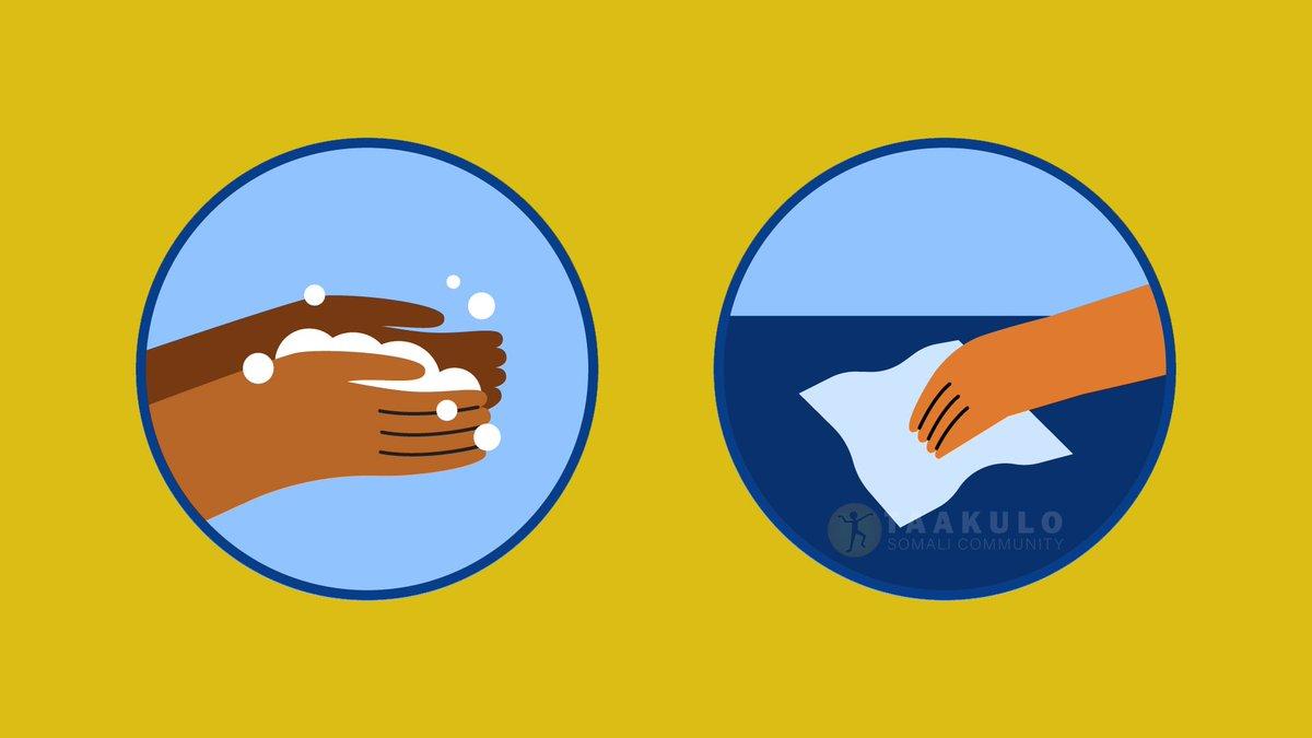 Wash hands often and disinfects frequently touched surfaces at home  Dhaq gacmaha badanaa oo jeermiska ka dil jeermiska dusha sare ee guriga  @PlanUK  #Planinternation @decappeal #decappeal