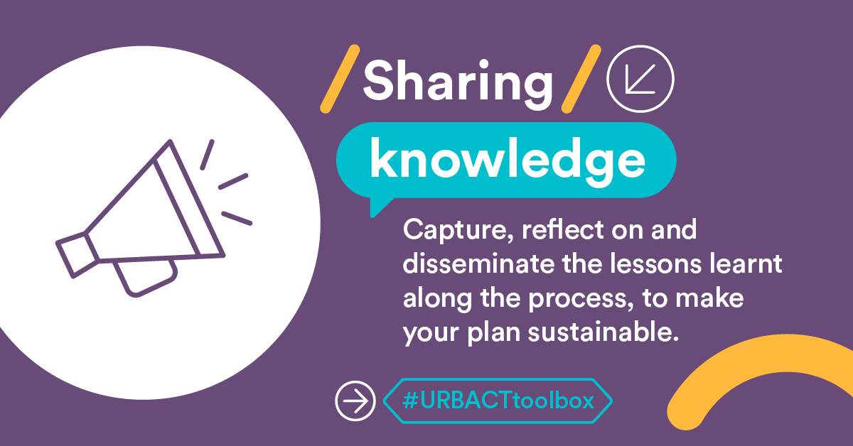 Communication is key all along your #ActionPlanning cycle! The #URBACTtoolbox will help cities capture key lessons from their actions, share them with peers & partners, and present results to external audiences: https://t.co/WDGcywMW4v  #BetterCities #SustainableUrbanDevelopment https://t.co/BJNAlS5Y5k