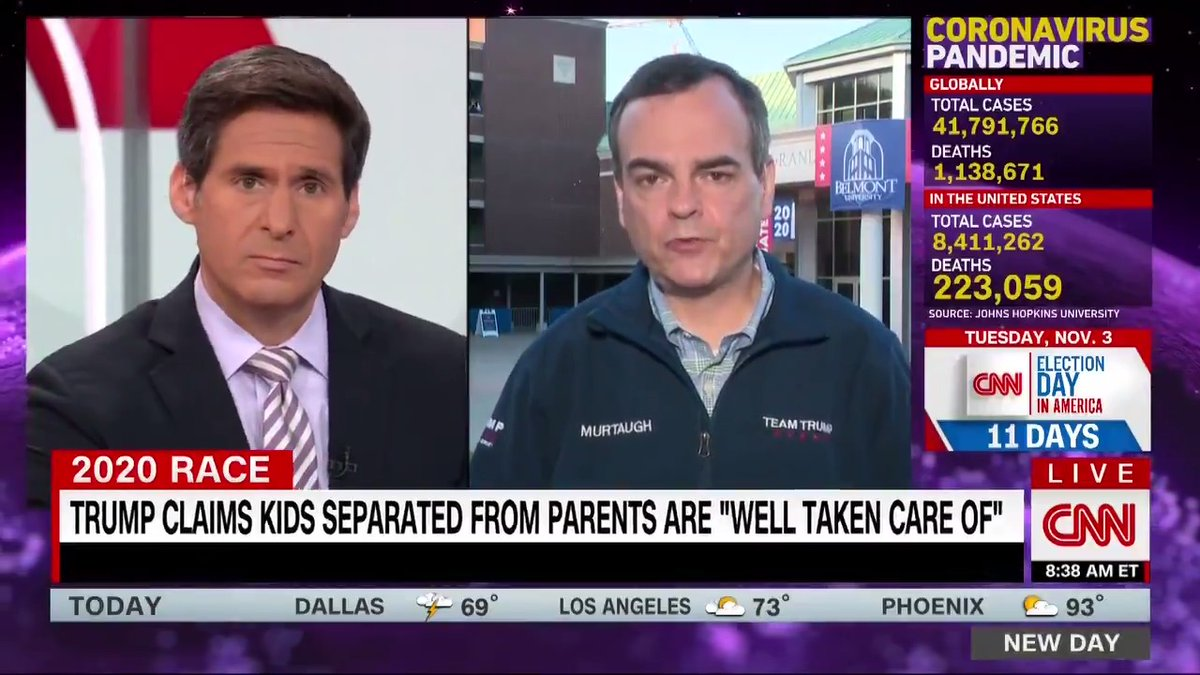 """""""Its a regrettable situation,"""" Trump campaign communications director Tim Murtaugh says about 545 parents separated from their children at the border. …We should not lay out the welcome mat and encourage people"""" to travel through Mexico, he adds. cnn.it/34kZS6y"""