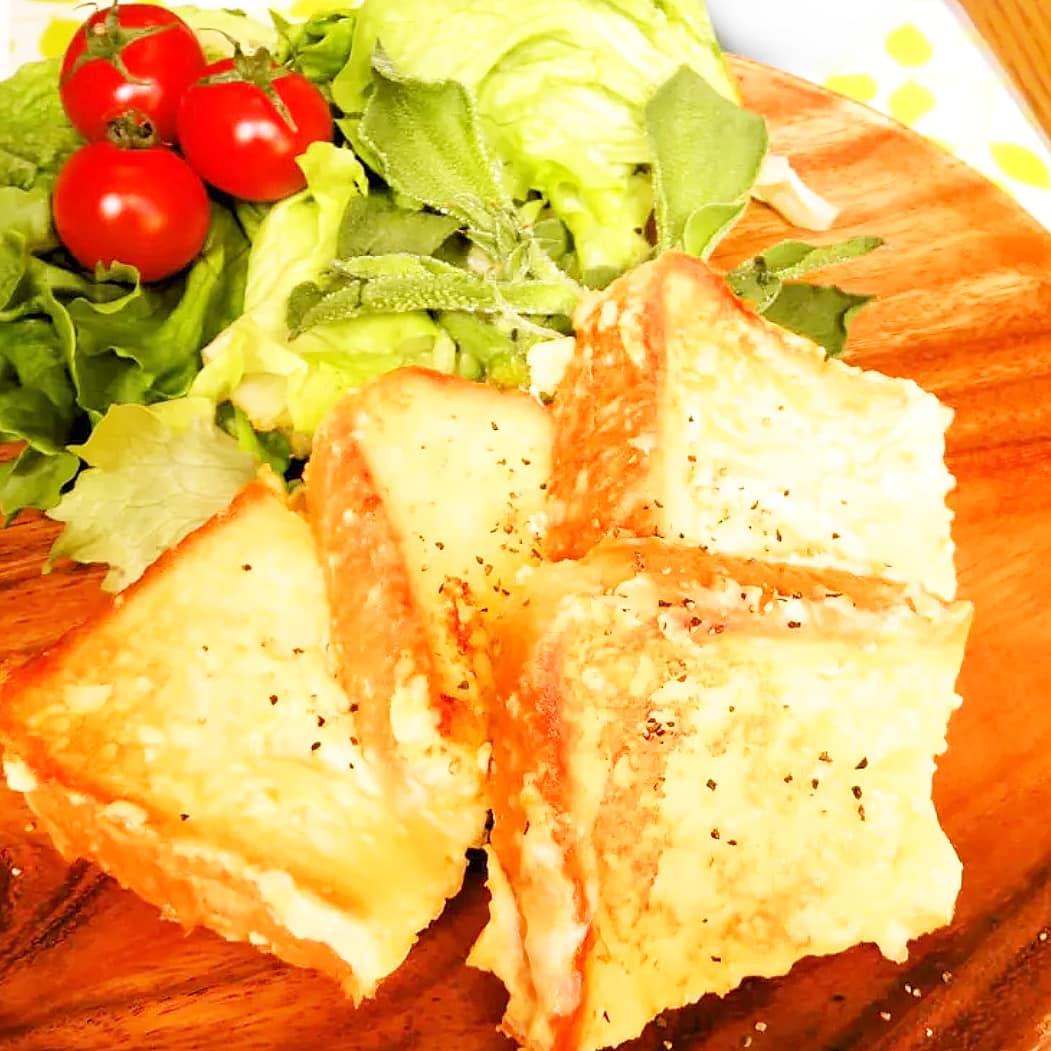 クックパッドで公開している私のレシピをご紹介♪朝食に♪甘くないお食事フレンチトースト☺ by hirokoh #料理好きな人と繋がりたい#Twitter家庭料理部 #お腹ペコリン部#おうちごはん #クックパッド #cookpad  #YouTube #フレンチトースト#簡単レシピ #朝食