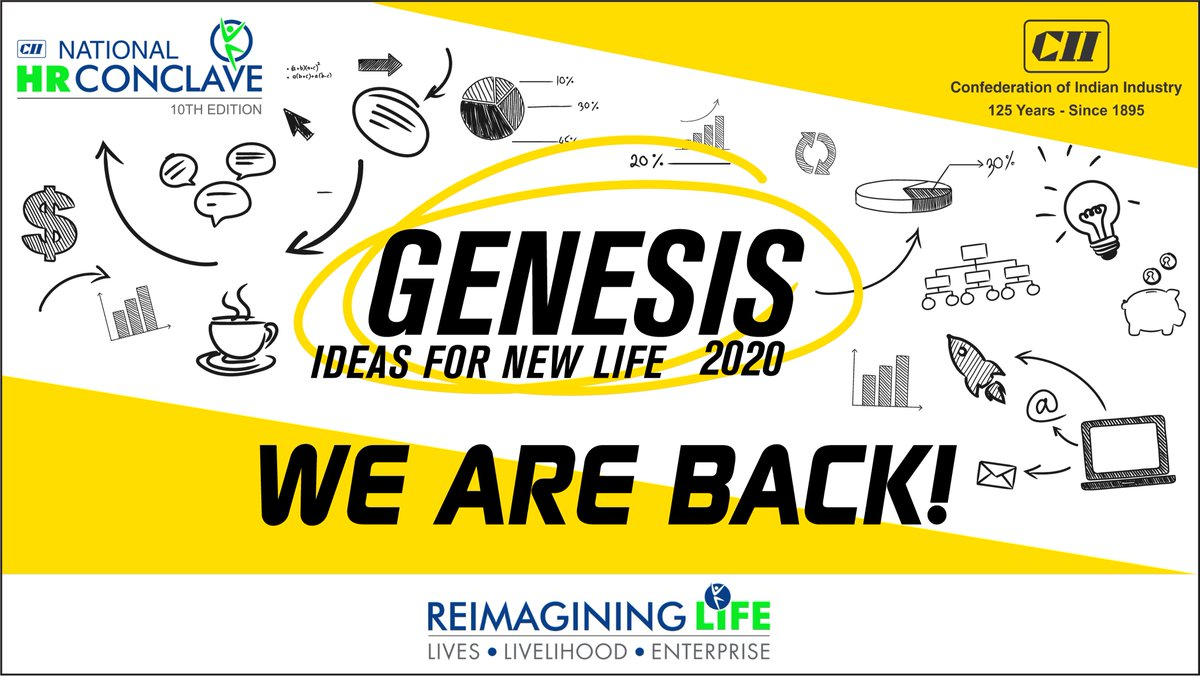 Bigger Ideas and a bigger platform – GENESIS is back! 2020 could be your turning point.  Watch this space for more...  #Genesis2020 #CII #10thNationalHRConclave https://t.co/e8zS7UcaKx