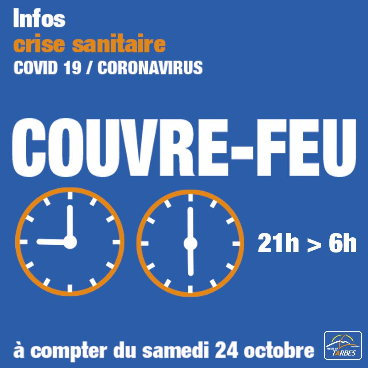 [RAPPEL] 🚨 #COVID19 #CouvreFeu21h #Tarbes Télécharger l'attestation dérogatoire👇  https://t.co/mkDFYULSxS https://t.co/4QsXLmOJmP