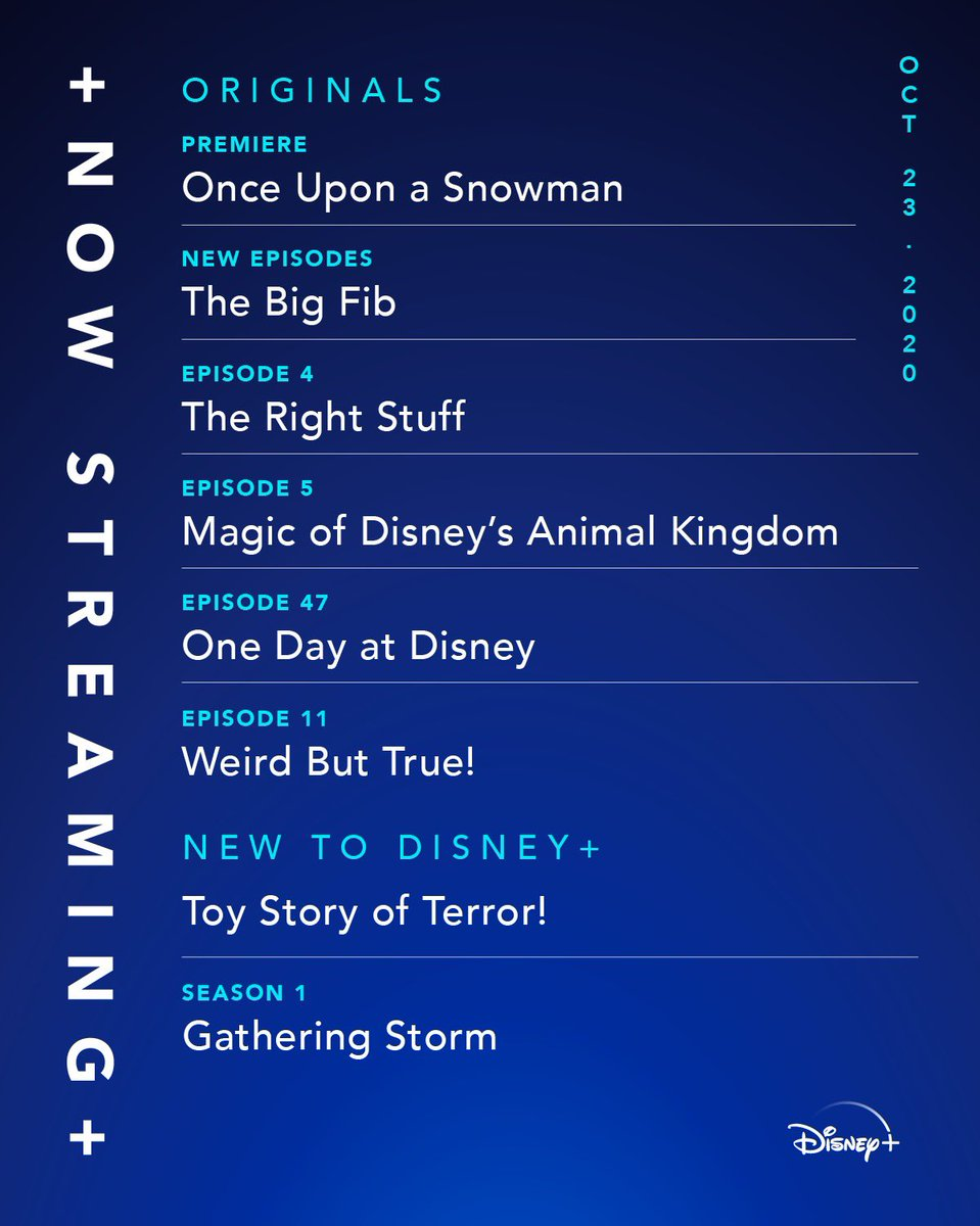 We know you've been screaming for it—and it's finally HERE! Start streaming Toy Story of Terror! for #DisneyPlusHallowstream, plus Once Upon a Snowman, an Original Short, and a new episode of #TheRightStuffSeries. #DisneyPlus
