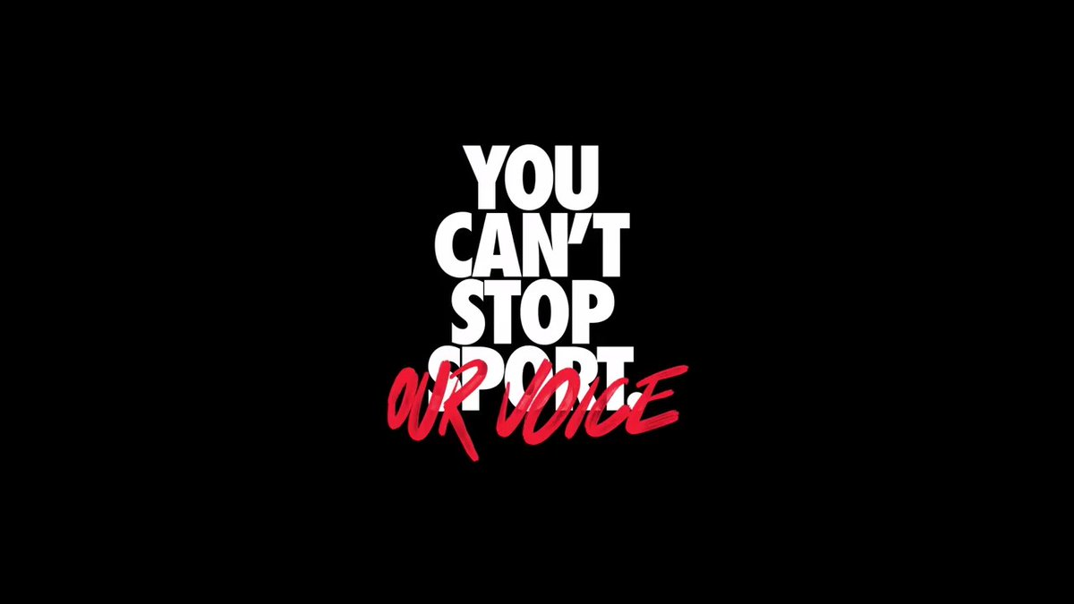 Replying to @boardroom: #YouCantStopOurVoice @Nike gets out the vote.
