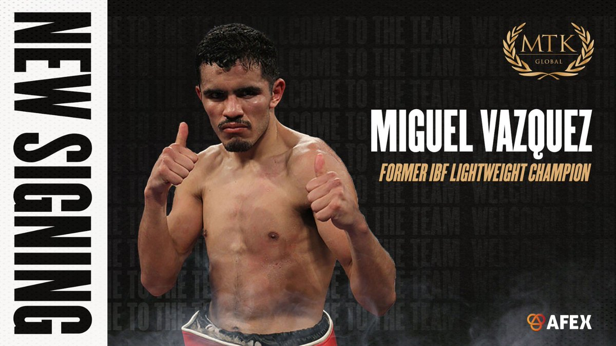 After his controversial defeat to Lewis Ritson, Miguel Vazquez signs with MTK Global https://t.co/Z7l5LqM6Cw https://t.co/0cziiMii8F