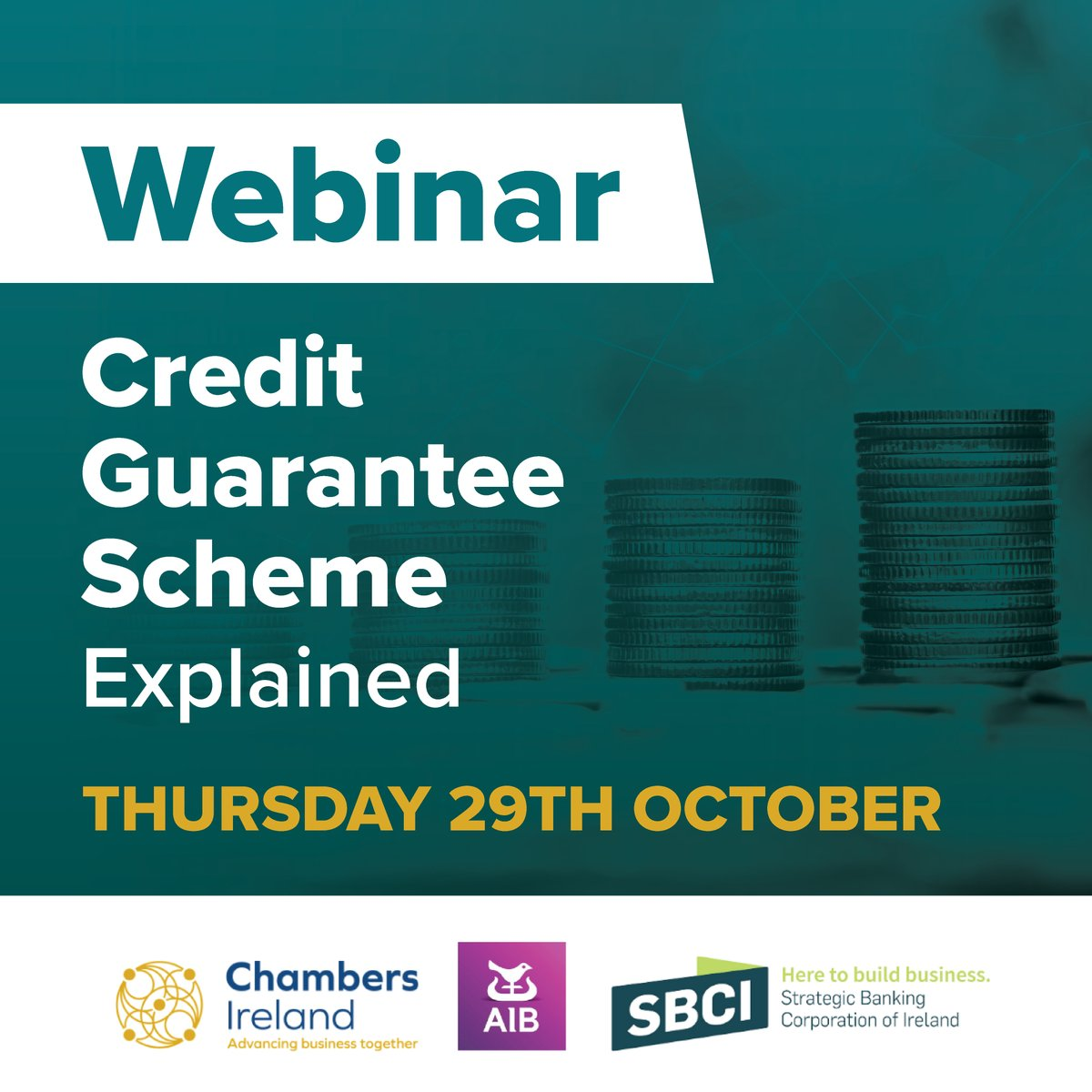 Chambers Ireland in partnership with AIB brings Chamber members an update on key government and financial supports available to businesses, with a particular focus on the Credit Guarantee Scheme.   Time: 11:00 – 12:00 Registration (Members Only): https://t.co/OYriApuTZA https://t.co/97qkkND7fO