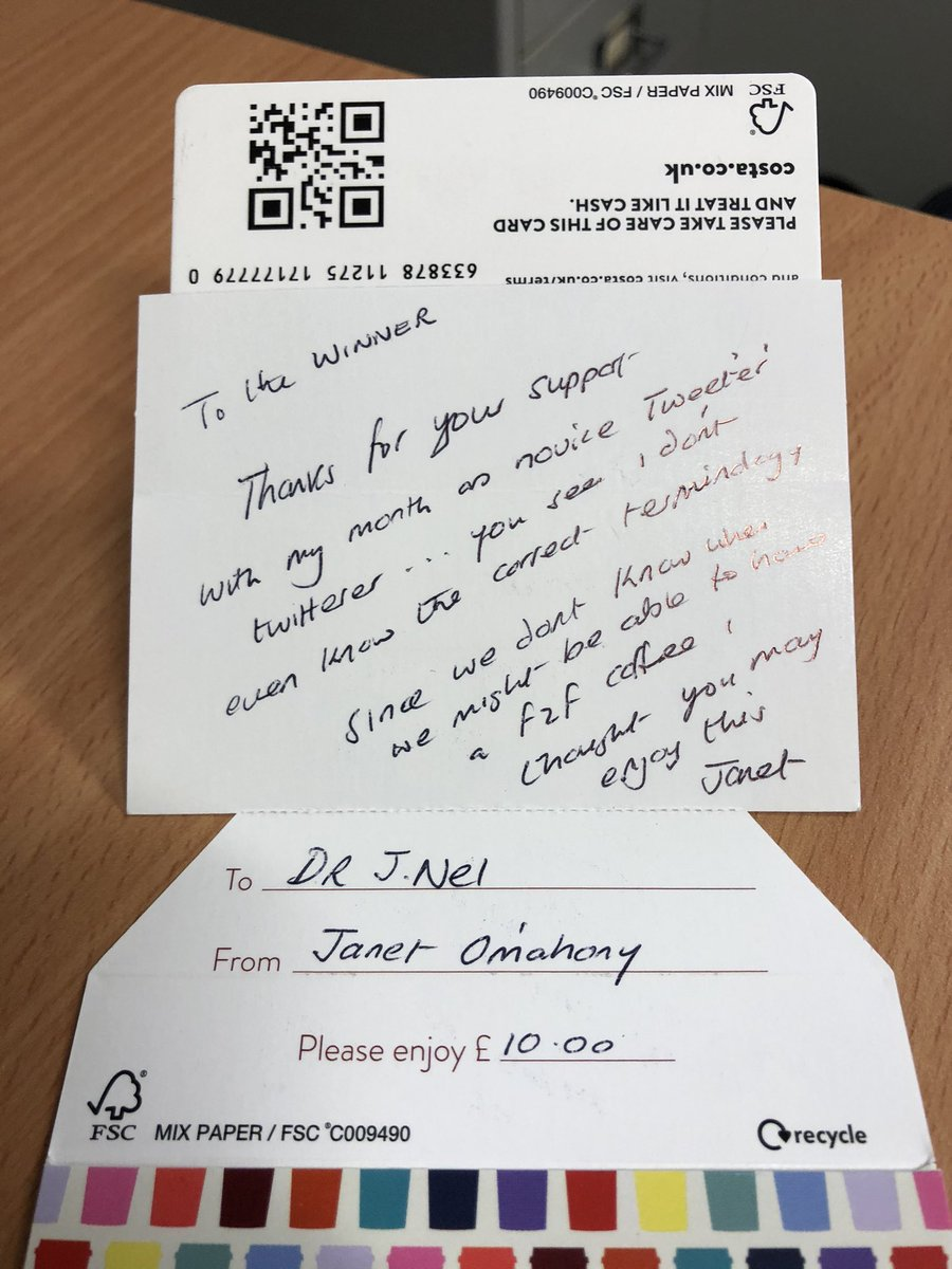 Thanks @janet_omahony for this random act of #kindness. You cheered me up on a grey Friday afternoon. @PennineCareNHS #PennineCarePeople https://t.co/JhVyMiT344
