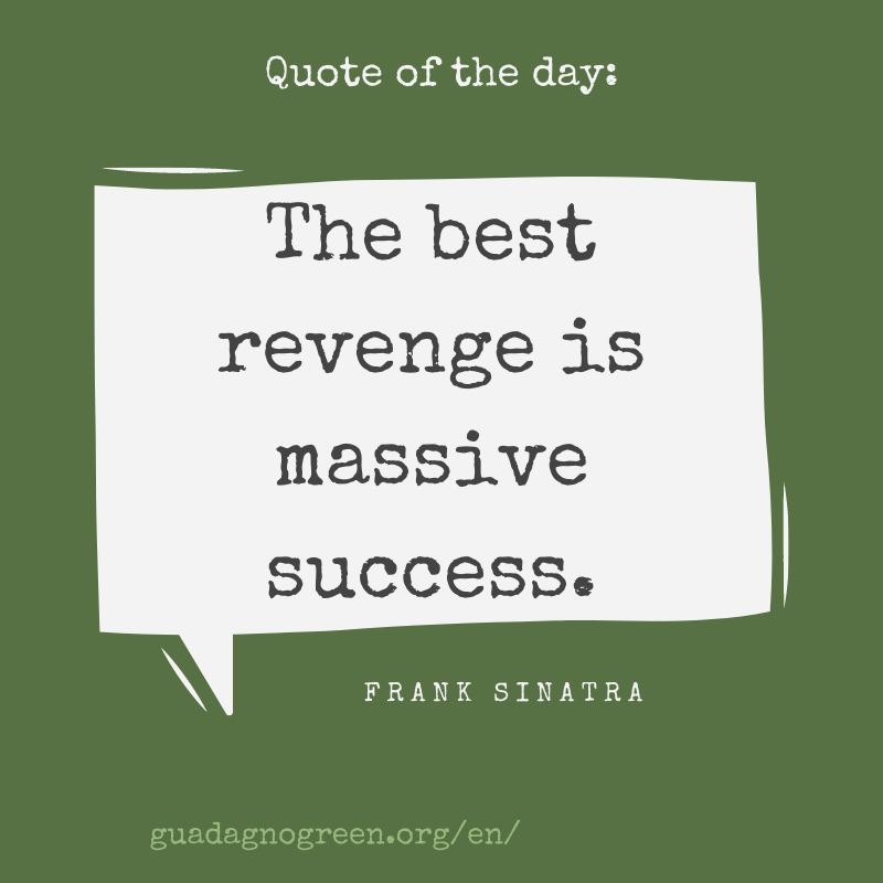 #quoteoftheday  The best revenge is massive success.  (Frank Sinatra) #success #motivationalquotes https://t.co/TImRiAFaoh