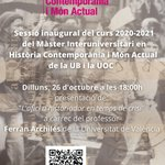 Image for the Tweet beginning: Dilluns 26 s'inaugurarà el Màster