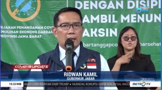 #COVID19UpdateMetroTV Menyusul adanya penolakan warga terhadap vaksin COVID-19, Gubernur Jawa Barat Ridwan Kamil masih mengkaji berbagai aspek aturan terkait sanksi dendanya. Streaming:  #IndonesiaMelawanCovid19