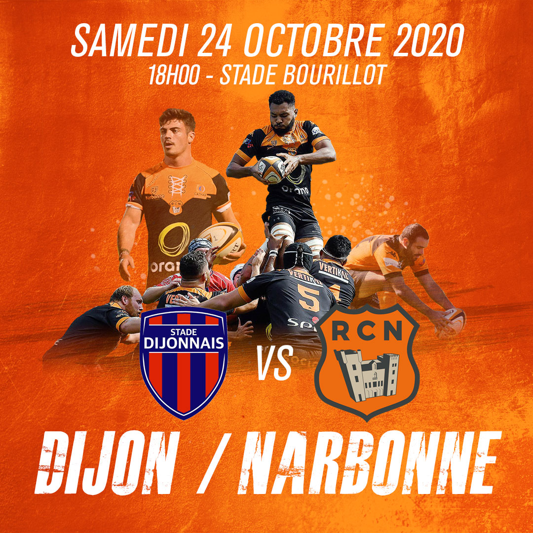 ‼️ CHANGEMENT D'HORAIRE  Le match contre Dijon se jouera samedi 24 octobre à...