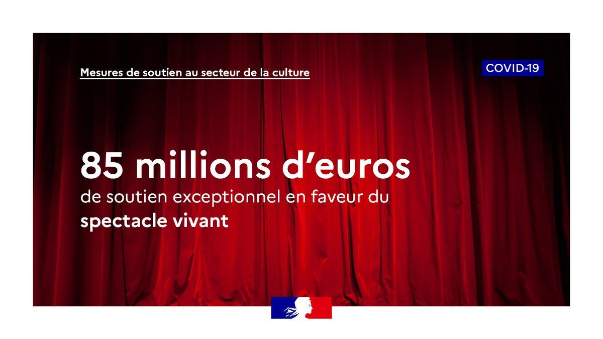 Je salue les mesures exceptionnelles annoncées par @R_Bachelot en faveur du spectacle vivant & du cinéma: 👉85M€ d'aides pour les programmations en salle 👉30M€ pour éviter la fermeture des cinémas  Fonds de solidarité, exonération de charges, prêts garantis. #culture #Covid_19 https://t.co/F3WTa0NAuW