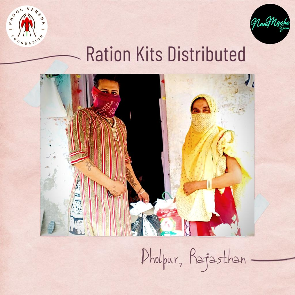 Around 821 million people- one out of nine- still go to bed hungry each night. These marginalized communities need our help to fight hunger.  With your contributions, we've been able to help some by providing ration kits in Dholpur, Rajasthan.  Donate Now!