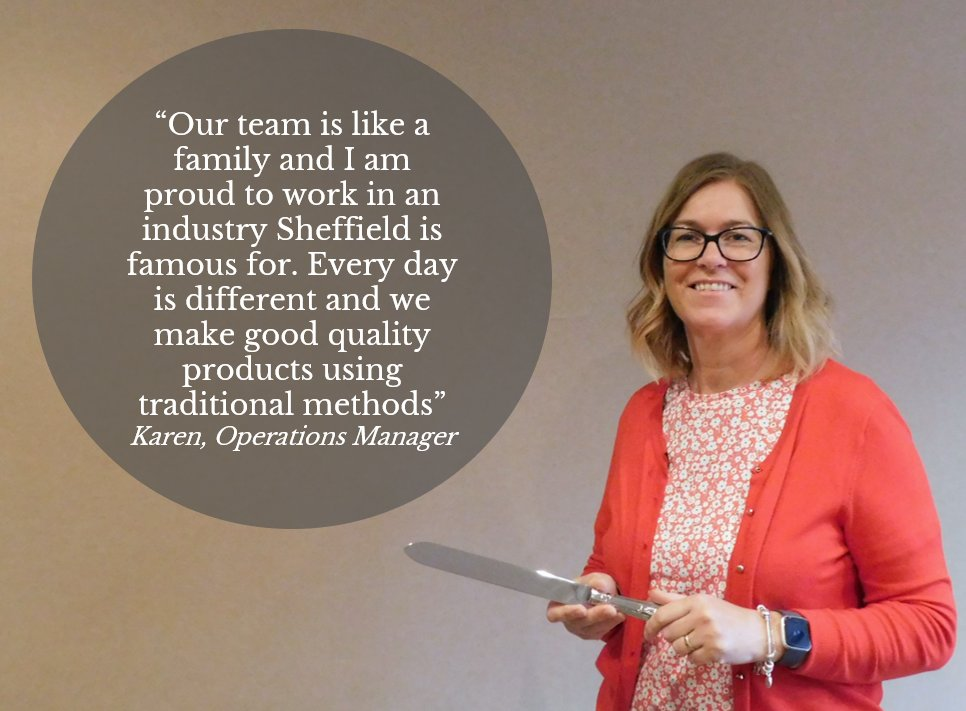 This week our Operations Manager, Karen, has been telling us why she loves her job so much...  #ourteam #jobs #cutlers #madeinsheffield #manufacturing https://t.co/rbrmGHgc7q
