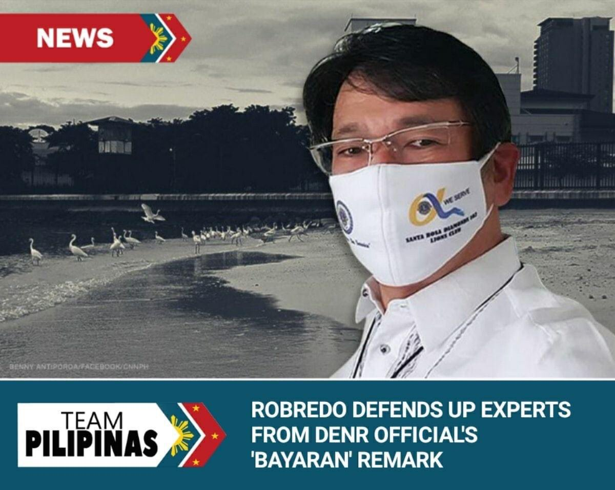 "For Vice President Leni Robredo, the accusations of Environment Undersecretary Benny Antiporda against experts from the University of the Philippines of being mercenaries or ""bayaran"" was"