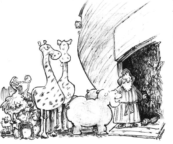 "@MerielMyers Hip-Hip-Hippo-Hooray!!!  ""Two more for the stalls please.""  #rosko #cartoon #cartoonoftheday #animals #noah #ark #rain #floods #laughteristhebestmedicine #smiles https://t.co/Qs3XSlrYWb"