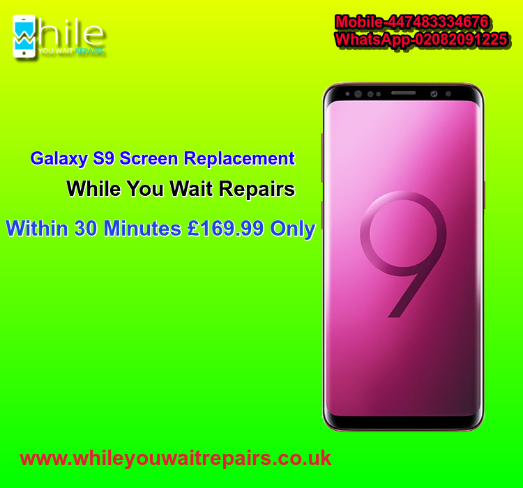 Faulty Galaxy S9 Screen? Don't worry  Get it replaced at While You Wait Repairs.📋🛠✅👨‍🔧📲 #London #Samsung #GalaxyS9 #S9 #CrackedS9 #SameDay #Screen #whileyouwait #fix #repair #replacement #Screen #LCD #UK https://t.co/8I7THzEkVX