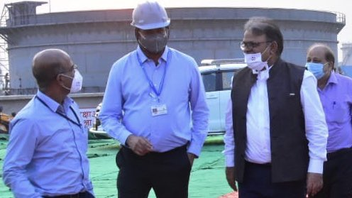 Shri Arun Singh, Director (Marketing) reviewed the progress of laying of 355 KM long multi product pipeline from Bina Refinery to Kanpur, which will improve petroleum products availability in Central & Eastern UP, Northern Bihar and Southern Uttaranchal. https://t.co/ZcbihGpnRw