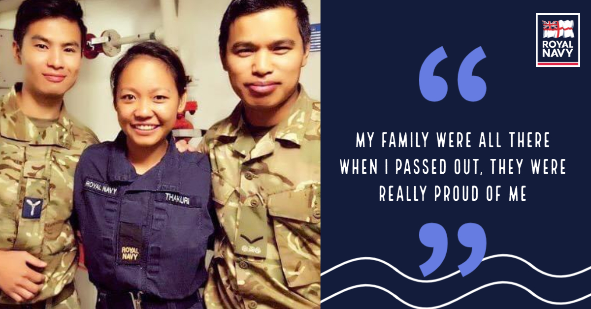 Usha is believed to be one of the first (possibly the first!) Nepalese women to join the RN. Coming from a military family (Dad was a Gurkha and brother in the Army) Usha found her feet easily through the support of her family and shipmates. 👉 Read more: ow.ly/g13U50C0zoK
