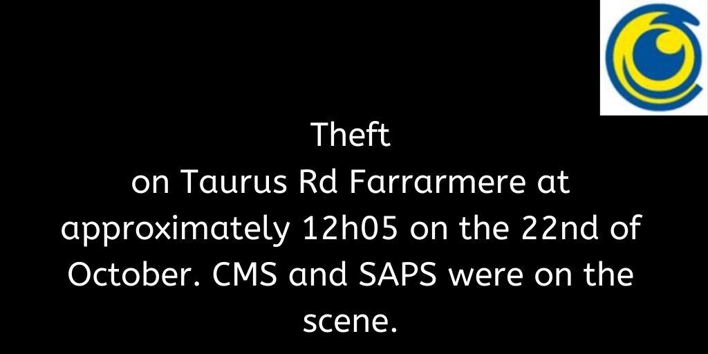 Crimebroadcast 2020-10-23 #CommunityRules #Safety  #proudlycms #Patrolling #Precincts #Ekurhuleni #Reaction #Closures https://t.co/N7nolJGCya https://t.co/P10Cmzk9Nr