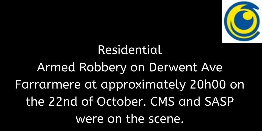 Crimebroadcast 2020-10-23 #CommunityRules #Safety  #proudlycms #Patrolling #Precincts #Ekurhuleni #Reaction #Closures https://t.co/N7nolJYdWK https://t.co/KsmgG98U5H