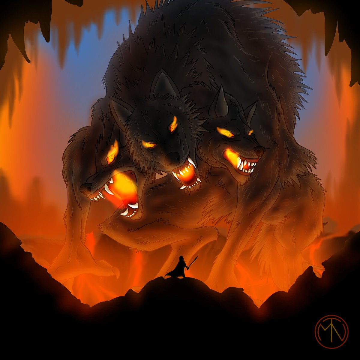 Cerberus pour continuer le #inktitan  #drawing #digitalart #illustration #Cerberus https://t.co/fBxZqnnvHV