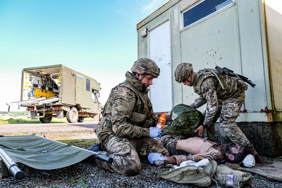 ⚠️WARNING GRAPHIC CONTENT. Medics who provide vital support to #RoyalMarines across the globe have readied for operations and #FutureCommandoForce developments with intensive training at the home of @CdoLogRegt. 🔗Read more: ow.ly/ldVn50C0zHE
