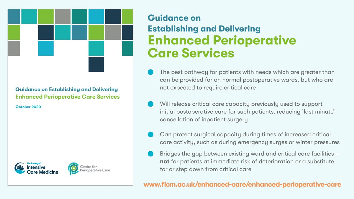 We are delighted to announce the publication today of 'Guidance on Establishing and Delivering Enhanced Perioperative Care Services', a joint publication with @CPOC_News and with collaboration from multiple national bodies and senior leaders.  https://t.co/kb1DmafxwY https://t.co/B3THo6lLuZ