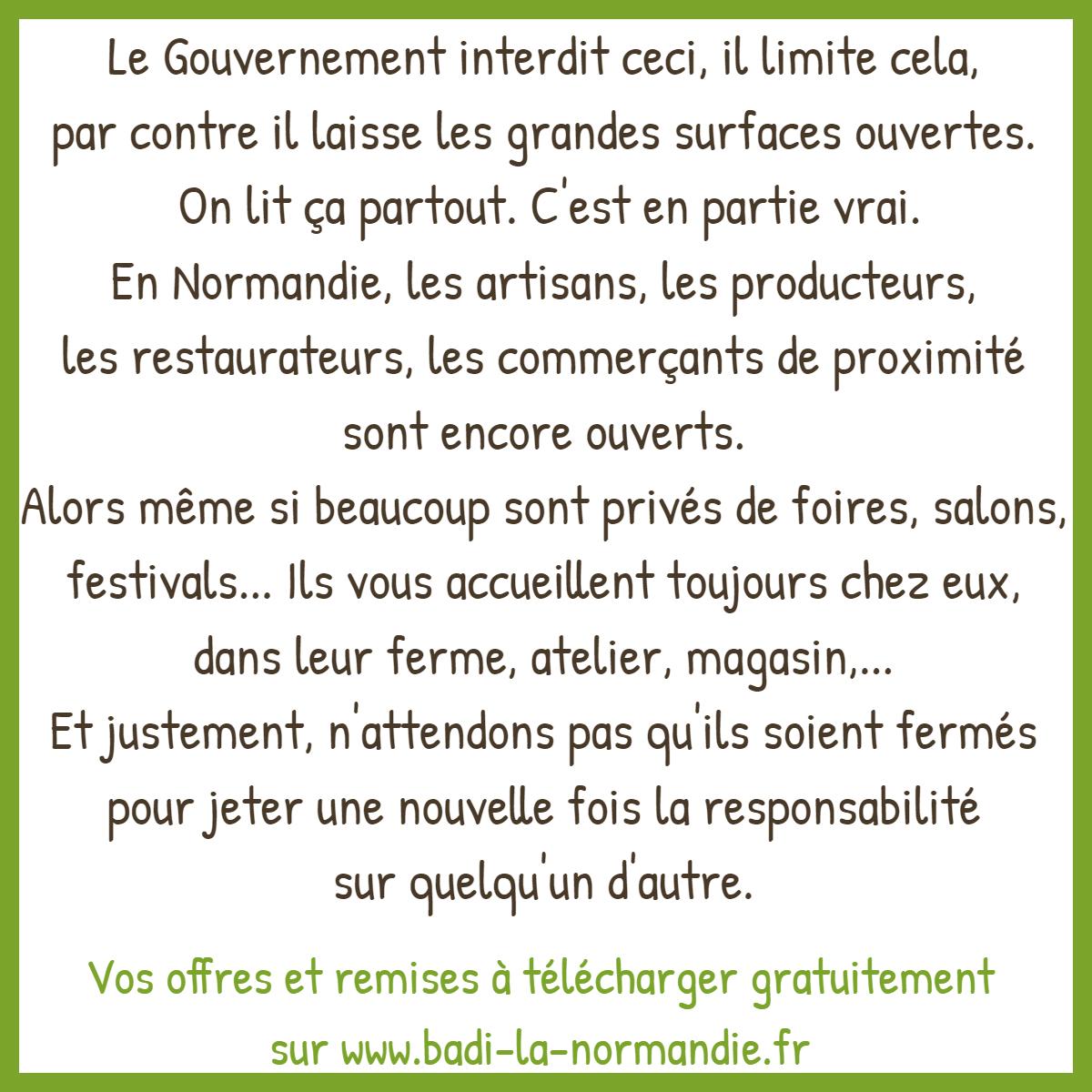 #ConsommationLocale c'est possible ! Le dire c'est bien, le faire c'est mieux. En #Normandie, vos offres et #remises à télécharger gratuitement sur https://t.co/k3G6nm4tkM #BDLN #proximité #commerçants #producteurs #restaurant #artisan https://t.co/dWQXlgb5g6