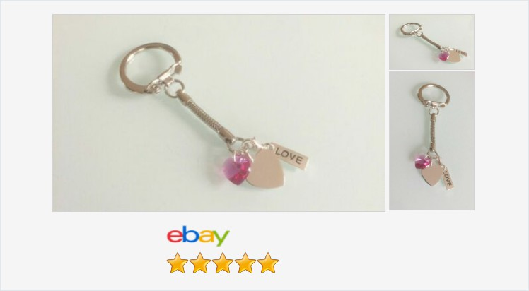 New Sterling silver crystal and Silver Plated Love Hearts Key Ring or Hand Bag   eBay #sterlingsilver #hearts #silverplated #keyring #swarovski #crystal #rose #pink #handmade #keychain #handbagcharm #gifts #giftieas #giftsforher #prettything #accessories  https://t.co/diOvg40d4W https://t.co/9CORf3ftA9