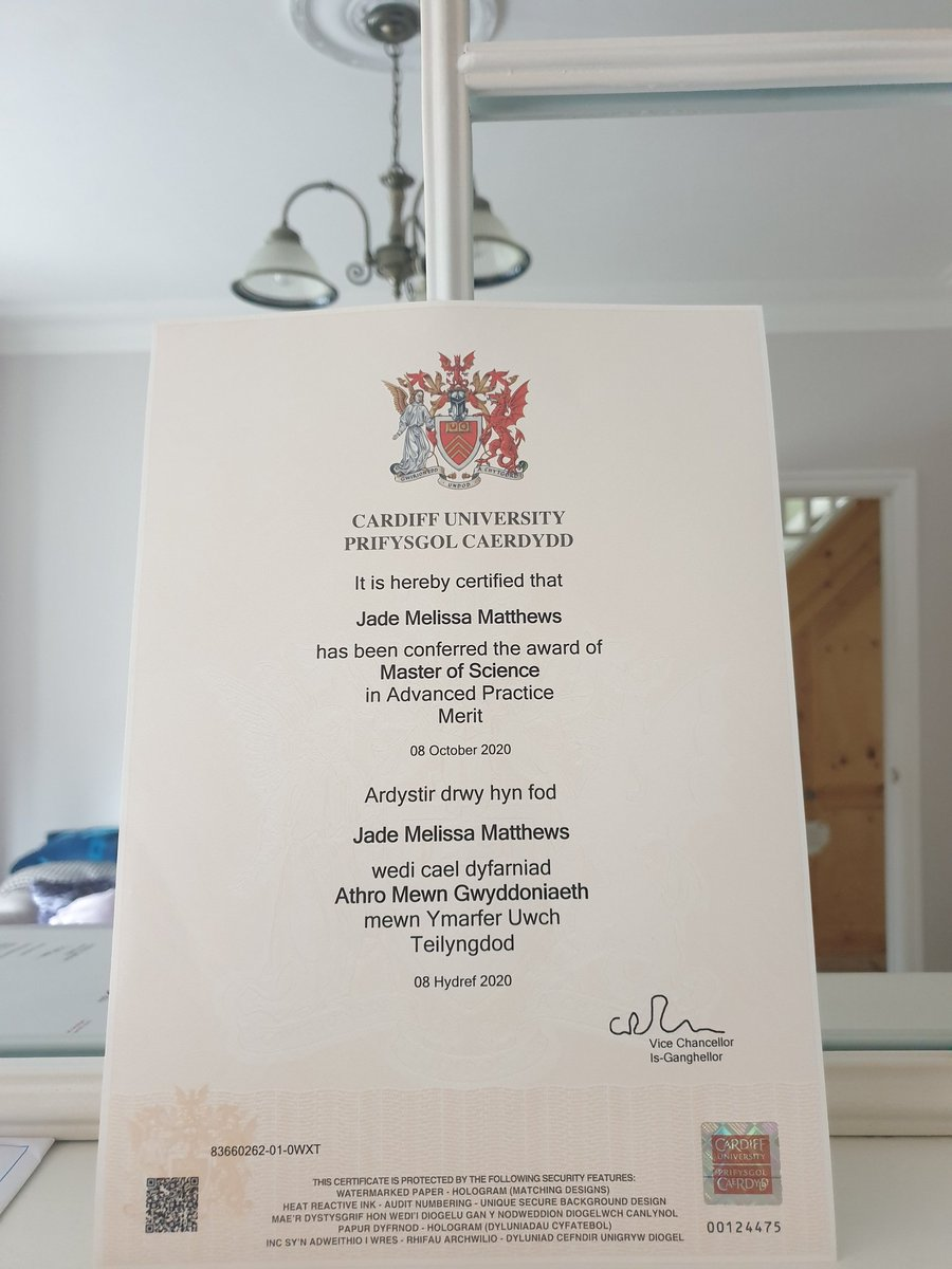 Its Official (I have a certificate to prove it 🤣)  Master Of Science in Advanced Practice, few % off a distinction but I'm proud of myself and all that I've achieved as things haven't always been easy 🎊🥂 #Passion #Determination #Drive #LoveForMyJob https://t.co/MPRoJZaQHH