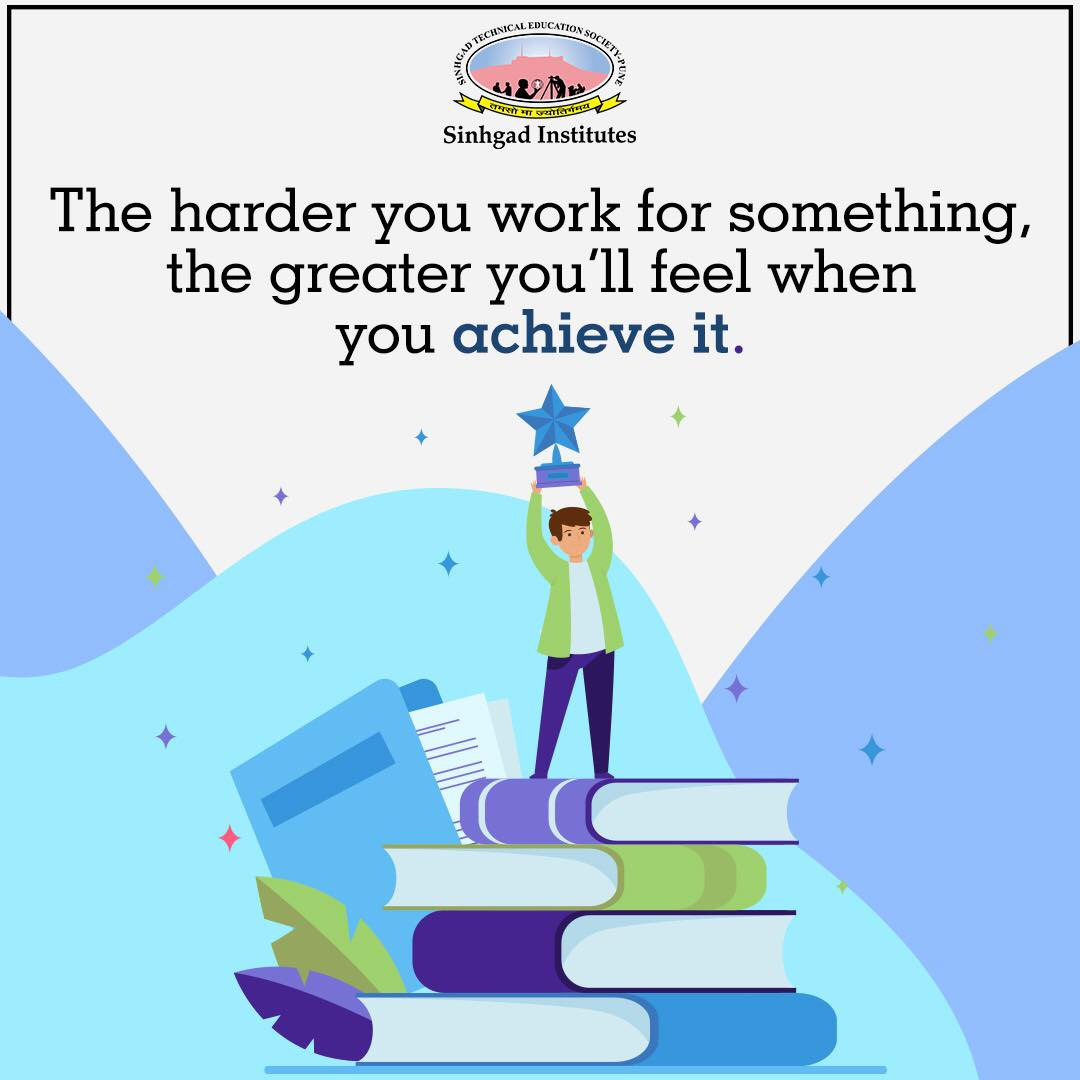 Success doesn't just find you. You have to go out and get it. Dream bigger. Do bigger. . . . #SinhgadInstitutes #STES #Pune #Motivation #HardWork #Success #Dreams #Goals #Passion #Quotes #MotivationalQuotes #StudentLife #CareerGoals #DreamBigger https://t.co/AZUhjpi1aG