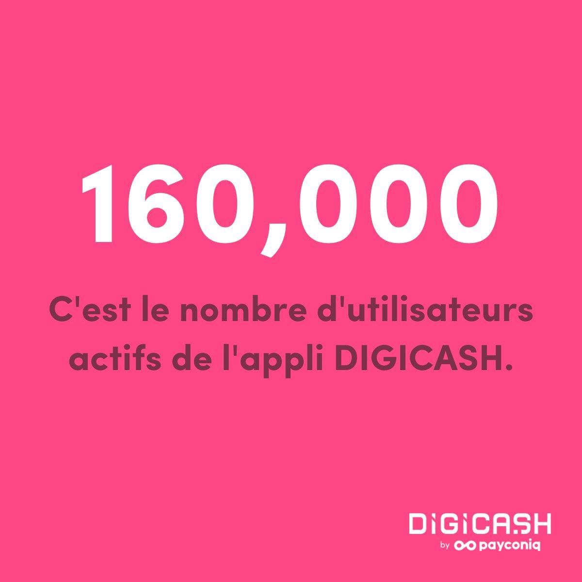 Le saviez-vous ?   160K : c'est le nombre d'utilisateurs actifs de l'application Digicash by Payconiq.   #mobilepayment #users #paymobile #luxembourg @Payconiq https://t.co/hB0YSlnrp7
