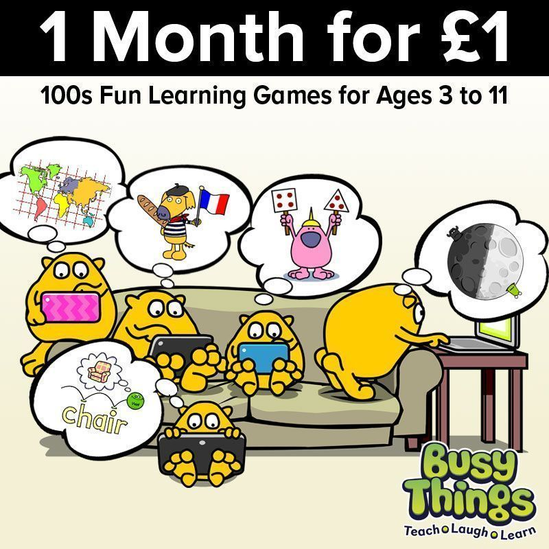 All sorts of games, activities & teaching resources to help bring subjects to life - #maths, English, #phonics, geography, history, #coding and many more!   AND to support #families we are offering a month of access at just £1 - with up to 5 child profiles https://t.co/f3l3r3Z8XU https://t.co/7VOynNLJ7z