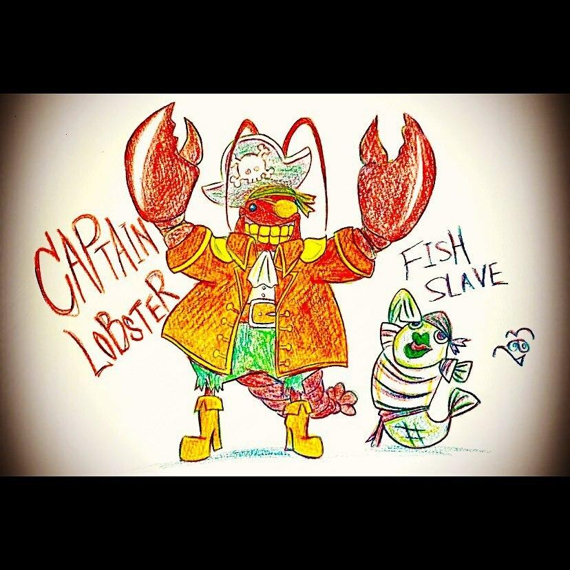 アイアイキャプテン!Aye, aye, Captain! - #船長 #captain #ロブスター #lobster #魚 #fish #海賊 #pirate #ハロウィン #holloween  - #4色塗り #4colors #色鉛筆イラスト #colorpencildrawing #ラクガキ #illustration #毎日投稿 #dailypost #1日1絵 #283 https://t.co/c70D3JbWuH https://t.co/XkTfqg7GSj