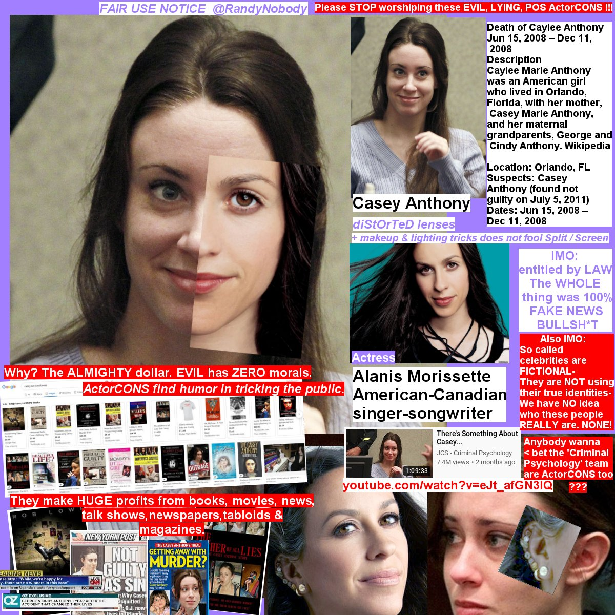 #NO #PHOTO=#CENSORED by @Twitter  #ActorCON #CaseyAnthony #AlanisMorissette #FAKEnews #news #murder #wth #wtf #wow #movies #books #talkshows #mystery #tabloids #crime #scams #music #pop #Canada #musica #singers #albums #FAKE #trials #law #police #magazines #celebrities #worship https://t.co/ubLWyF8gzj