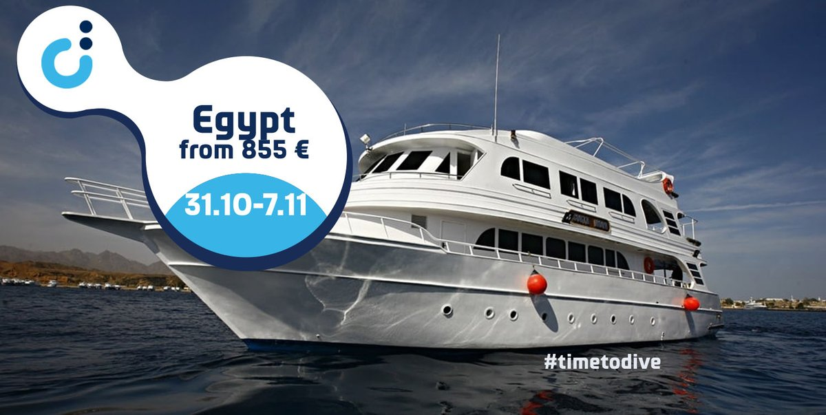 #Egypt, 31/10-07/11, #Sharm el Sheikh-Sharm el Sheikh, from 855 €, #yacht #South #Moon, #Best of #Sinai #route. #Temple, Ras #Katy, #Beacon #Rock, #Dunraven, #Small #Crack, #Thistlegorm, #Shag Rock, #Alternatives, Ras #Mohamed #National #Park, #Straights of #Tiran. https://t.co/IObRsYXTFk