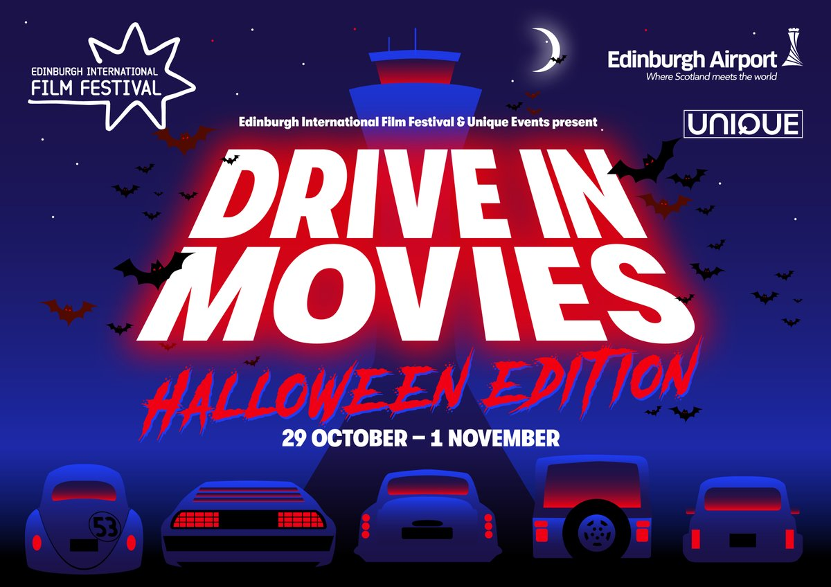 With a SPOOK-tacular line-up of horror, thrillers, frights & delights, #EdinburghDriveIn's Halloween edition is fun for all! 🚘  Join our friends @edfilmfest and @UniqueEventsltd from Oct 29 - Nov 1 - only ONE WEEK to go... 👻🎃💀    🎟️ https://t.co/WpQZaKQzxq https://t.co/PYopXm9N3V