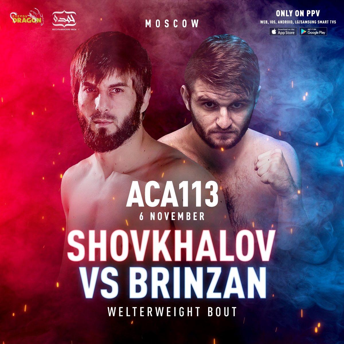 🔥 Welterweight fight: Rasul Shovhalov vs. Cristian Brînzan on ACA 113. https://t.co/ULNDfl4daI