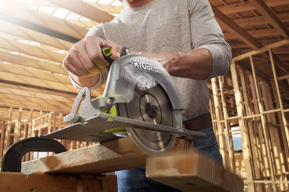 A must-have 🙌 The 18V ONE+ Brushless 7 1/4 in. Circular Saw will make at-home projects a breeze!