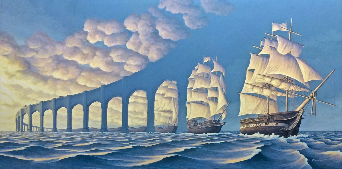 The Sun Sets Sail by Rob Gonsalves, 2001. Dimensions: N/A. Medium: Oil on canvas. #LOONA #이달의소녀 @loonatheworld