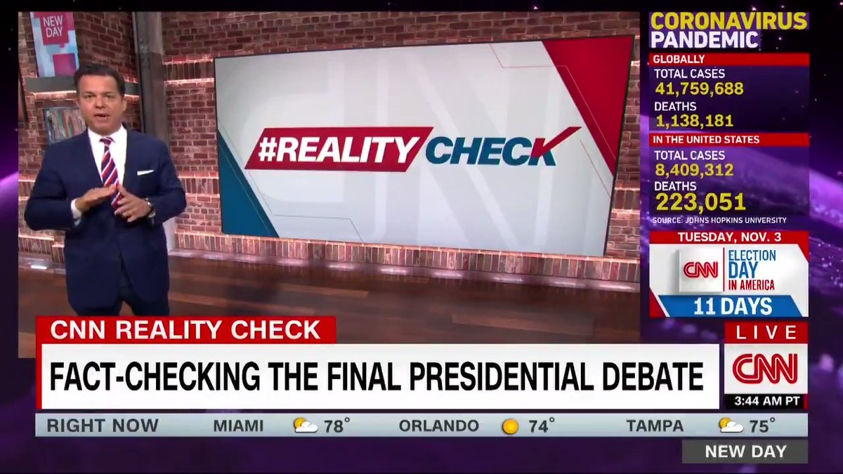 """""""Trump is trying to make the worst death total in the world look good."""" @JohnAvlon fact-checks President Trump's claims during the debate on his coronavirus response and election security. cnn.it/3dQNxtX #RealityCheck"""