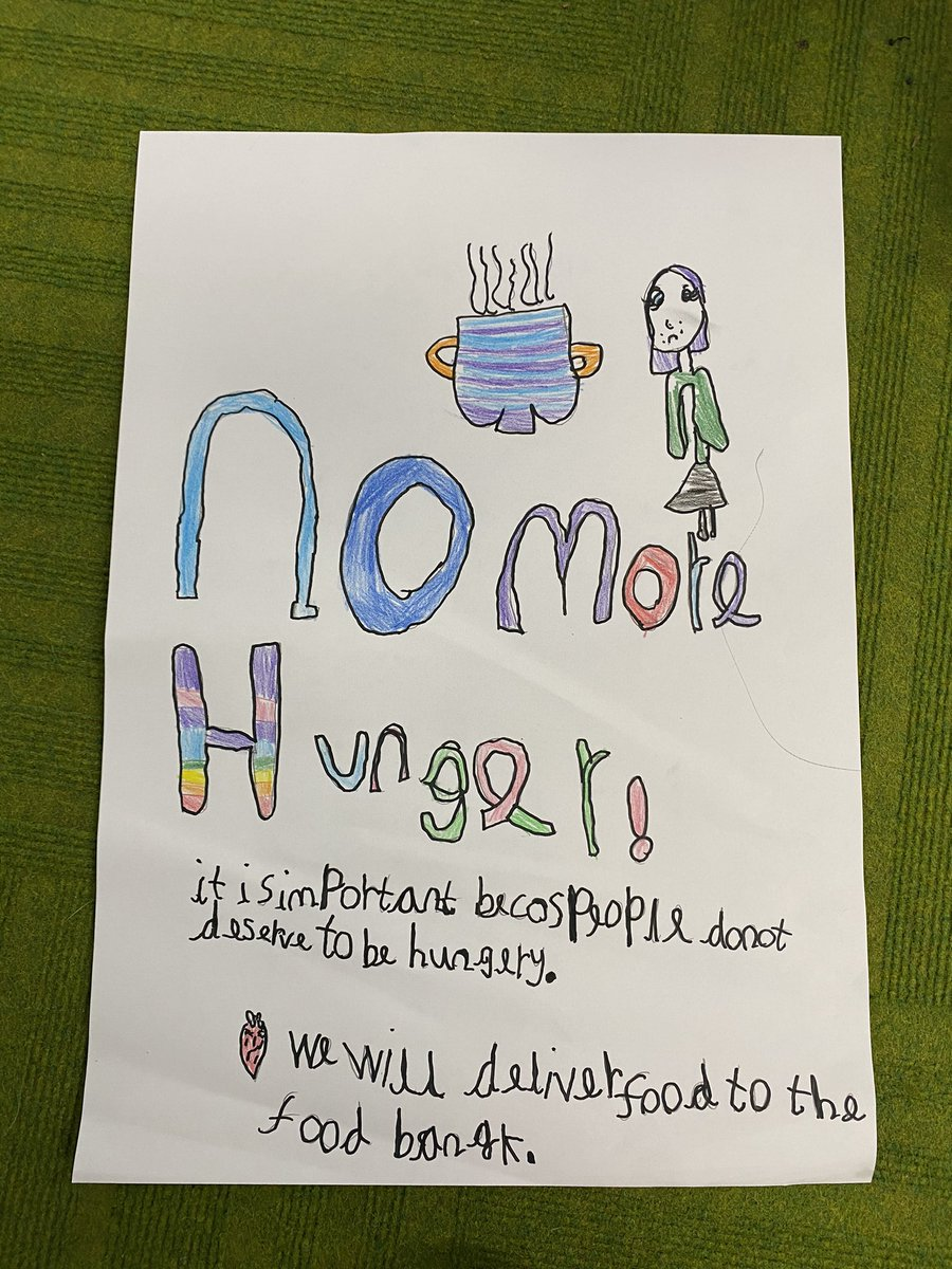 Fantastic posters, P3 and Miss Lunn! Well done girls and boys, this is such a worthwhile cause. #globaldevelopmentgoals #ZeroHunger @rjfoy27