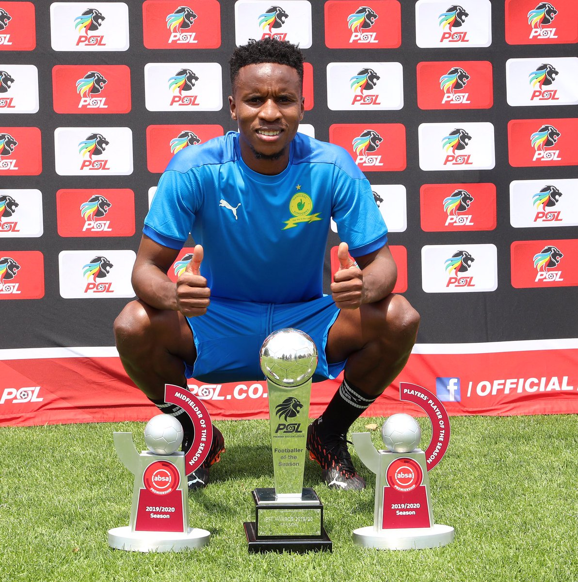 CONGRATULATIONS Themba Zwane :   - 2019/20 PSL Footballer of the Season  - Absa Premiership Player's Player of the Season  - Absa Premiership Midfielder of the Season   #PSLAwards20  @Masandawana https://t.co/yGLaKJ3j69