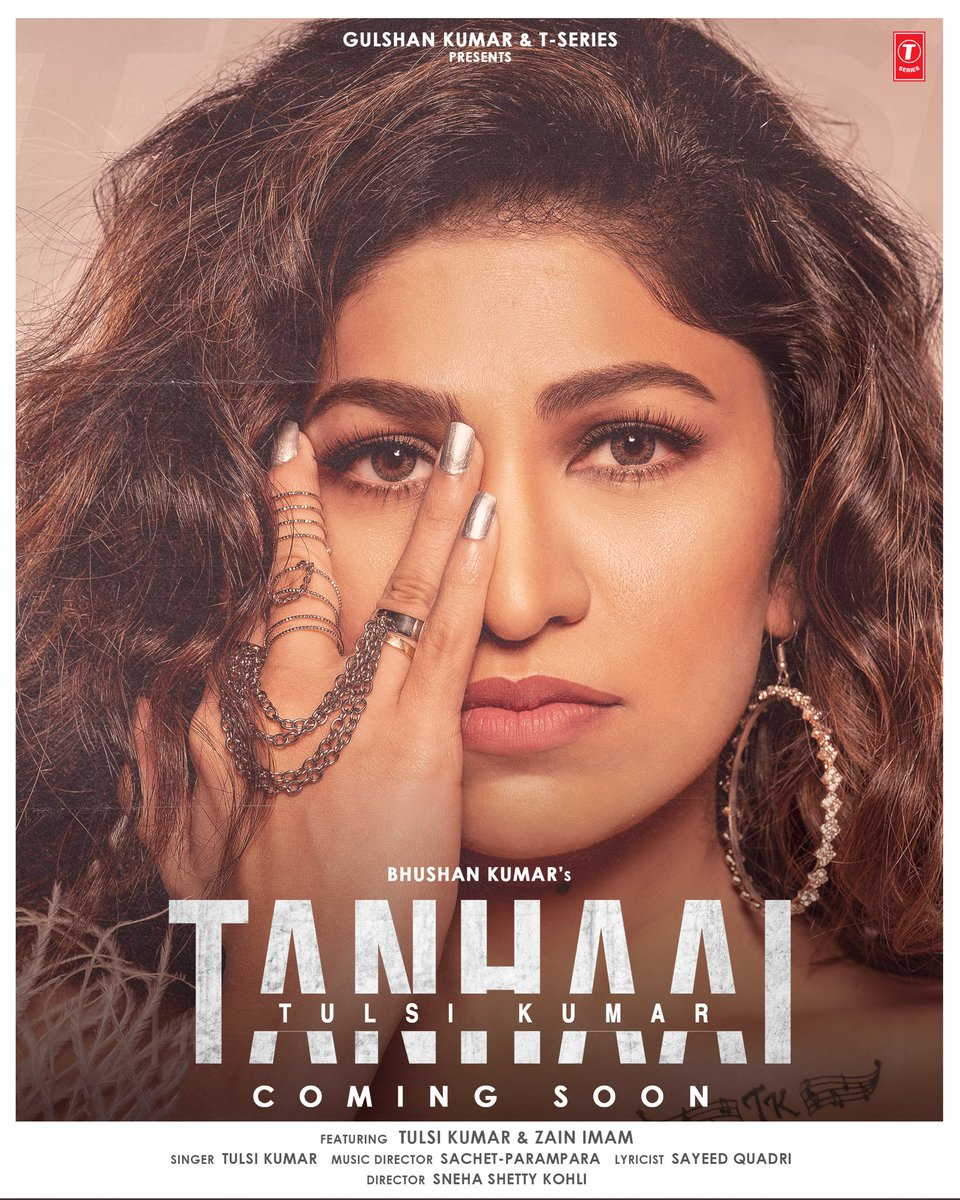 Kahaan iss jahaan me ghamo ka hisaab hai,  Har chehre par ek alag tanhaai ka naqaab hai!   My new single #Tanhaai portrays emotions in loneliness.  #ComingSoon🎧  #tseries @TSeries #BhushanKumar @zainimam01 @SachetParampara @SayeedQuadri2 @snehasshetty @EricnPillai  @bosemeghdeep https://t.co/Lbq5RnOA0n