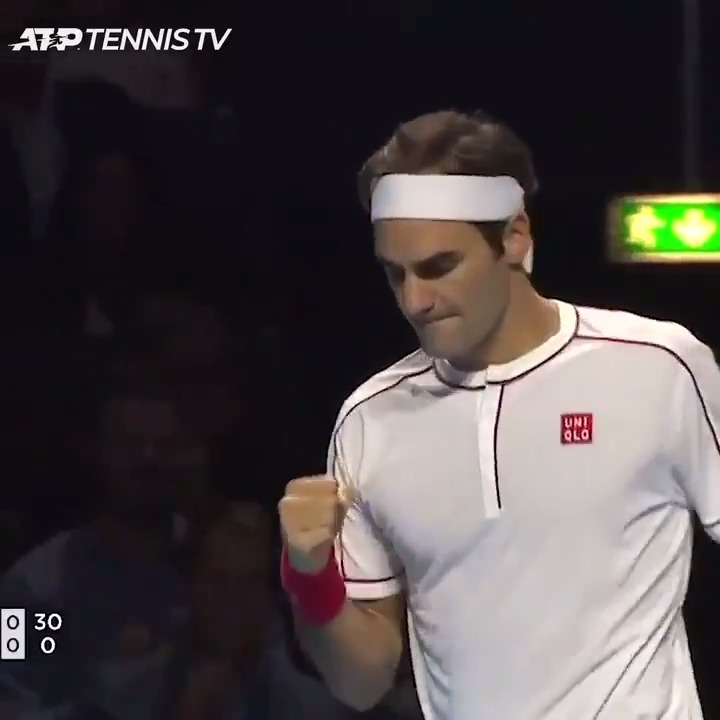 """Absolute magic."" 😅  Pure wizardry from @rogerfederer #OnThisDay in 2019! https://t.co/g96jdz9nVH"
