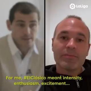 ✨⚽ ¿Qué SUPERSTICIONES tenían @IkerCasillas y @andresiniesta8 antes del partido? ¿Cómo van a vivir este #ElClásico?  🎙 ¡No te pierdas lo que cuentan sobre el partido las dos LEYENDAS de #LaLigaSantander!  #LaLigaIcons #HayQueVivirla