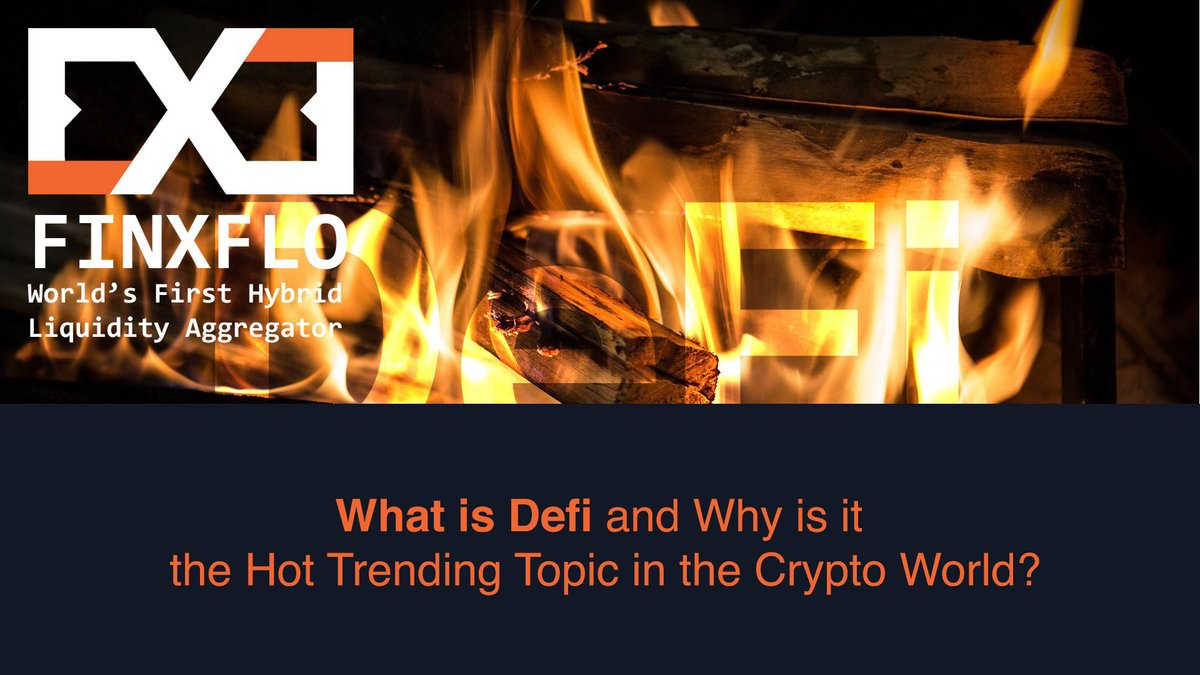 What is #DeFi and why is it the hot trending topic in the #crypto world? Finxflo explores the benefits of Defi, its applications, and the trends around it. Click on the article to read more: https://t.co/LBrjBQZaX4 #FXF #Finxflo #Cryptocurrency #LiquidityAggregator #YieldFarming https://t.co/8mC5hArD6u