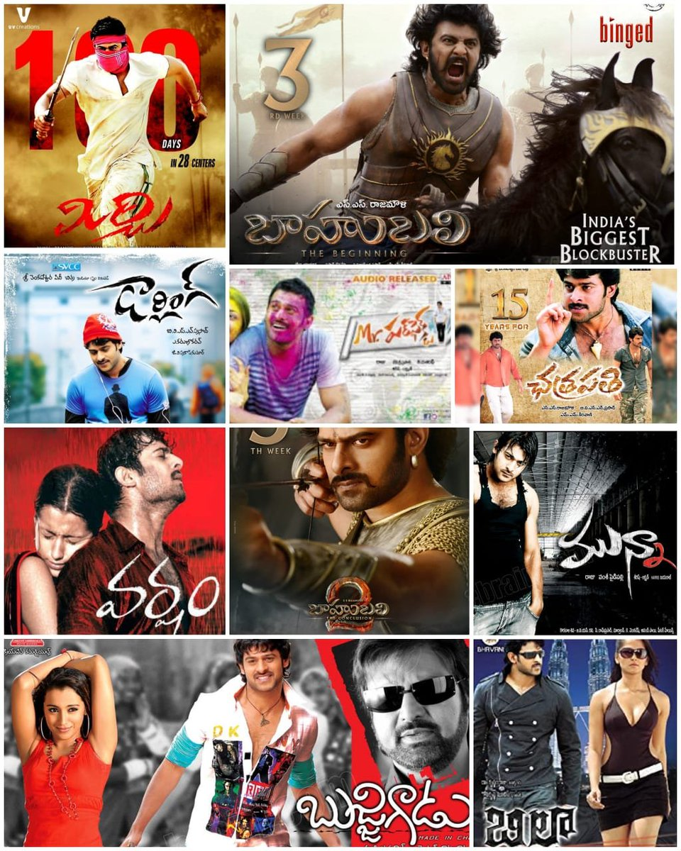 10 Prabhas movies, 1 choice. Which one are you going for?  #HappyBirthdayPrabhas https://t.co/gc5ykceEw5
